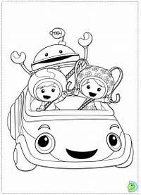 Team Umizoomi Colouring Pages
