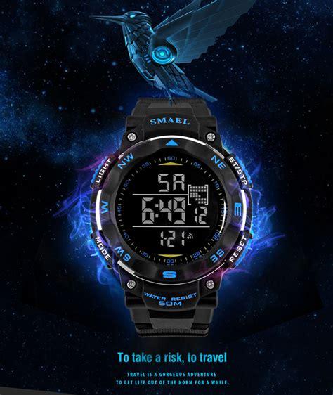 Jam Pria Tag Heuer Senna Silver Kualitas Terbaik smael jam tangan digital luminous 1235 black jakartanotebook