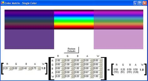 color matrix transparency tutorial with c part 2 codeproject