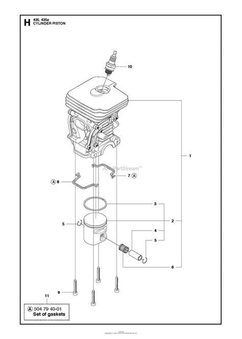 husqvarna     parts diagram  cylinder piston