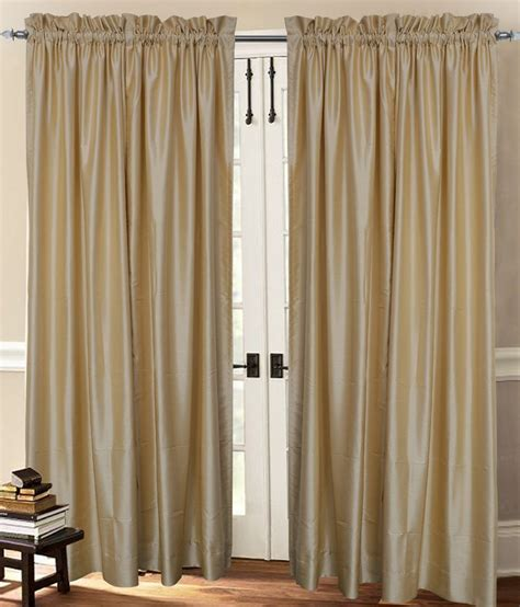 faux silk cream curtains cream faux silk dupioni curtain rod top 40 quot wide x 72
