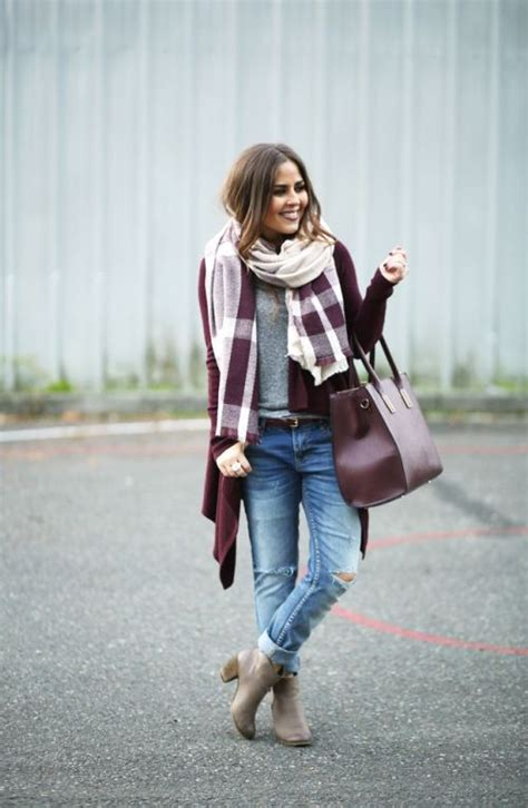 fall burgundy outfit ideas  trendy girls