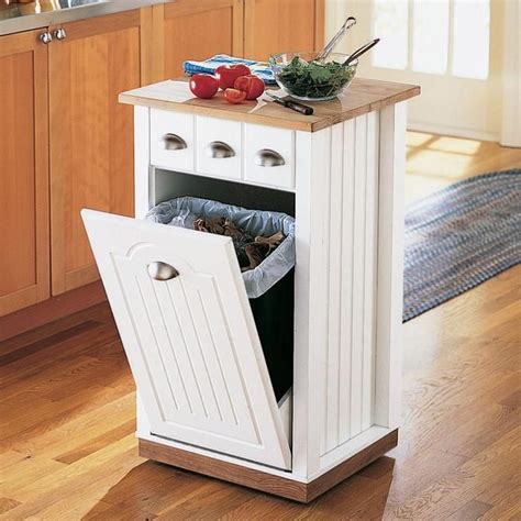 kitchen island with garbage bin 25 best kitchen trash cans ideas on trash can