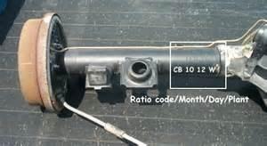 gm 12 bolt rear end identification