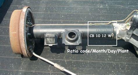 pontiac 10 bolt rear end identification gm 12 bolt rear end identification