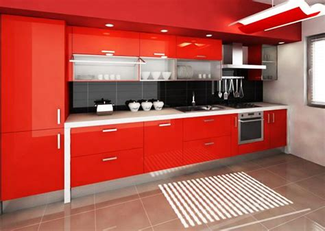 kitchen design red red color can revolutionize small kitchen design
