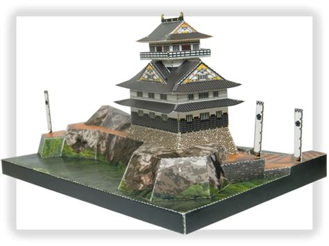 Architecture Papercraft - gifu castle papercraft japanese architecture model kit 1 300