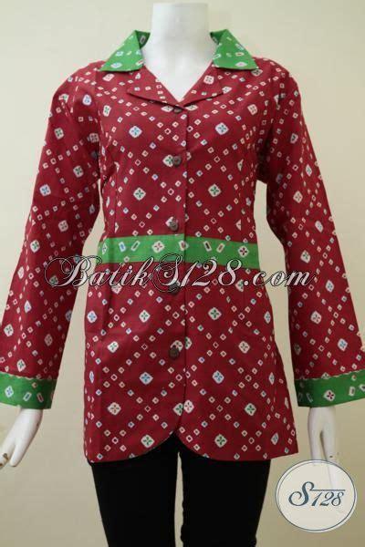 Eyeshadow Untuk Baju Merah baju batik print warna merah motif simple dan trendy blus