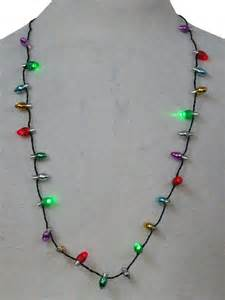 accessories light up christmas necklace light up