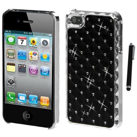 Iphone 4 Hardcase Doff for apple iphone 4 4s executive diamonds phone cover stylus pen ebay