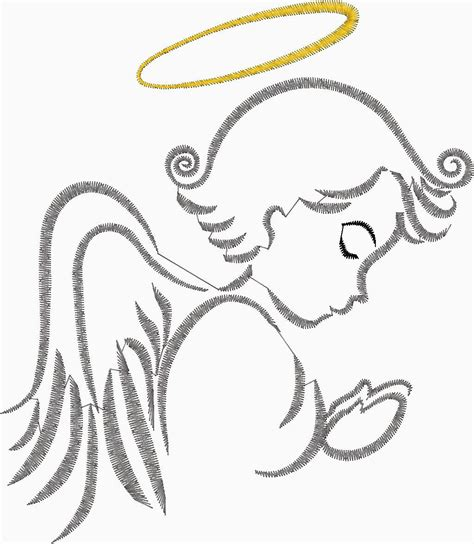 designing silhouettes of angels demo praying angel silhouette embroidery design