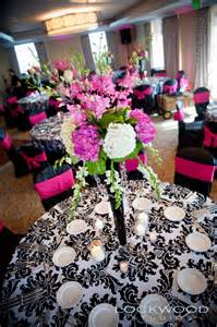 pink and black centerpieces for weddings and get married don cesar courtyard wedding