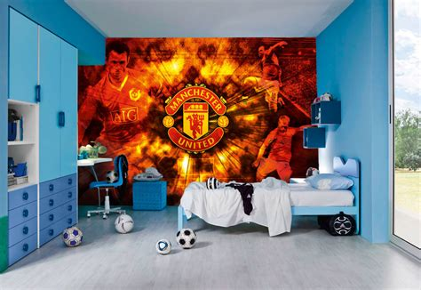manchester united wall murals forest bedroom