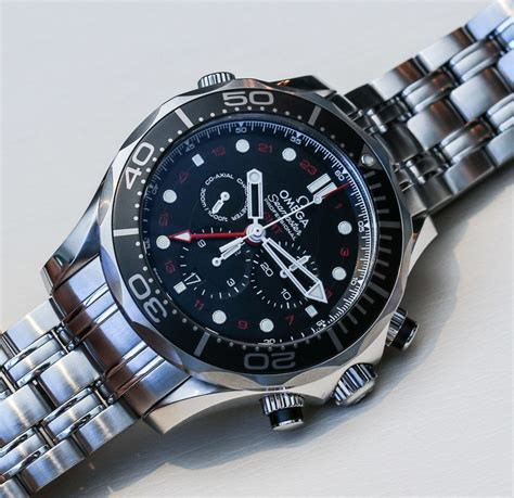 Omega Seamaster Gmt Leather Cronograph omega seamaster 300m chronograph gmt co axial on ablogtowatch