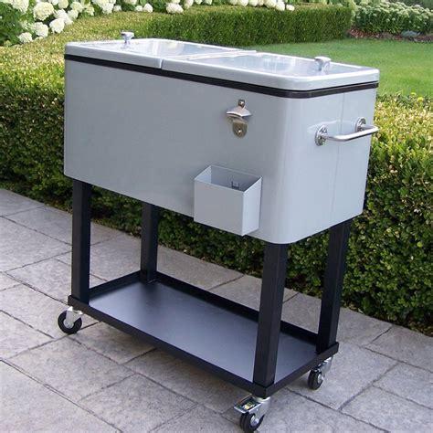 shop oakland living 80 quart steel beverage cooler at