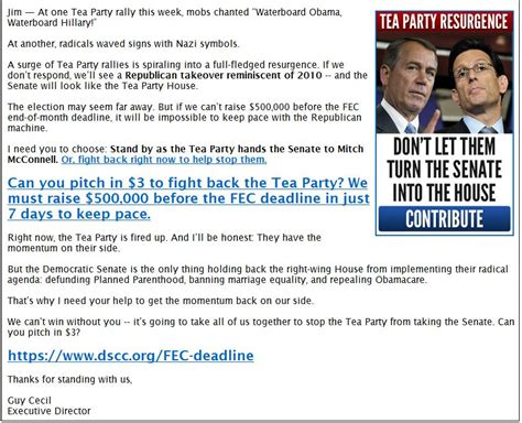 Fundraising Update Letter Disgusting Democrats Completely Lie About Tea In Fundraising Letter Update