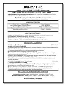 Aircraft Mechanic Resume Template by Aircraft Mechanic Description Sle Free Resume