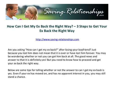 How I Got My Back by How Can I Get My Ex Back The Right Way 3 Steps To Get