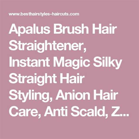 Apalus Brush Hair Straightener Instant Magic Silky Straight Styling | apalus brush hair straightener instant magic silky