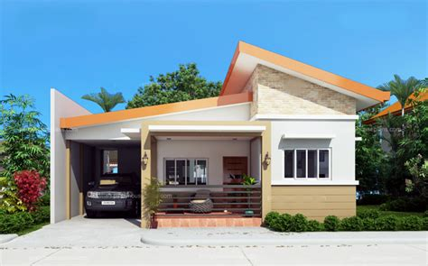 a 1 story house 2 bedroom design single story simple house plan with a total floor area of