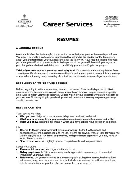 Sle Of Objectives On A Resume by Personal Statement For Sales Sle