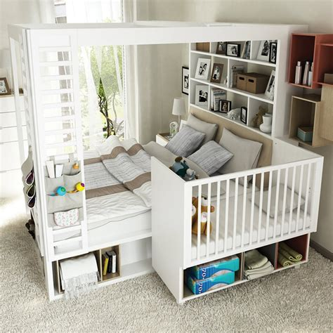 double toddler bed 4you 4 poster double bed with storage shelves in white