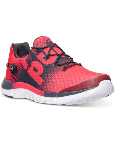 reebok s sneakers lyst reebok s zpump fusion running sneakers from