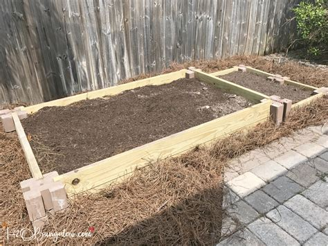 How To Build A Raised Vegetable Garden Bed H20bungalow Mulch For Vegetable Garden Beds