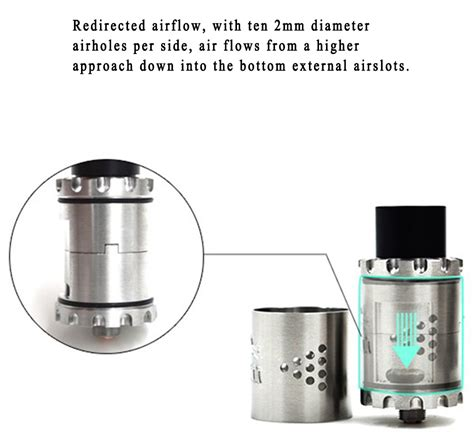 Kunci L 1 27 Mm Rda Rta Atomizer Vape original cigreen gear rda 25mm with 2 post deck redirected adjustable airflow 8mm juice