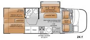 24 Foot Motorhome Floor Plans 2015 Thor Vegas 24 1