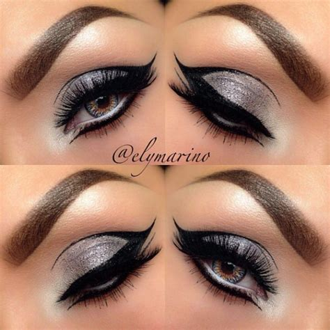 Eyeliner Silver black and silver eyeshadow for when we go to the