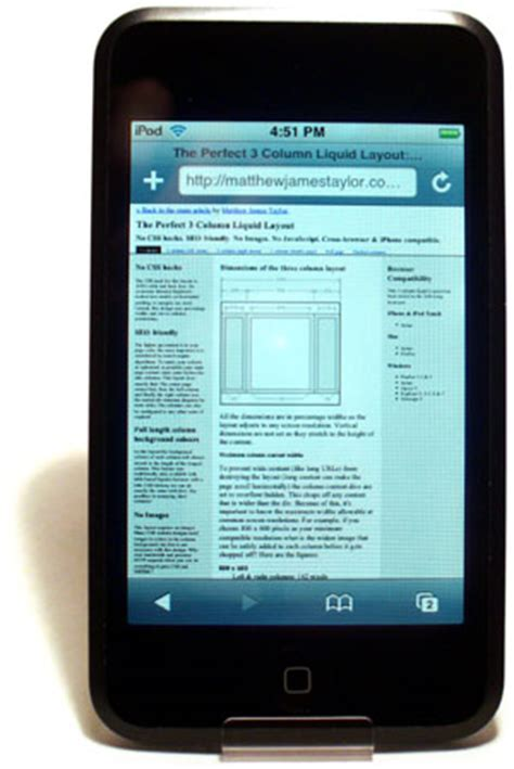 layout css touch perfect multi column css liquid layouts iphone compatible