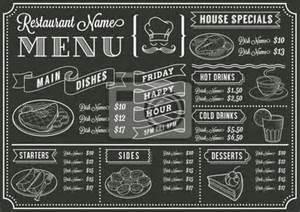 wall mural templates wall mural chalkboard restaurant menu template