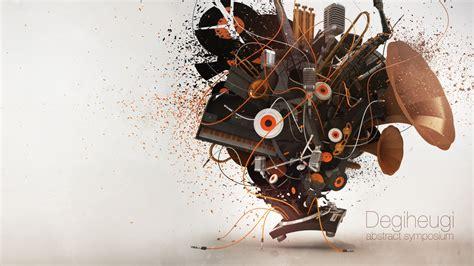 """Sfondo """"Musica 3d Orange""""   1920 x 1080   3d Computer"""