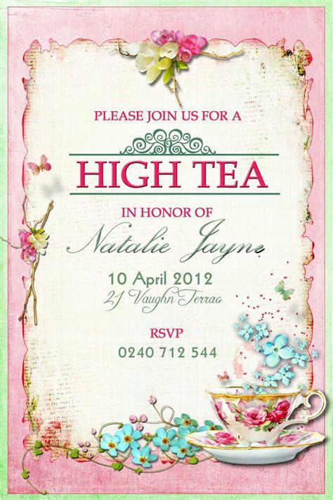 party invitations mesmerizing tea party photo invitations ide