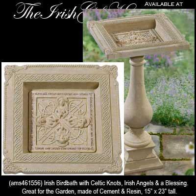 Ee  Irish Ee   Angel Birdbath With Celtic Knots  Ee  Irish Ee    Ee  Gifts Ee