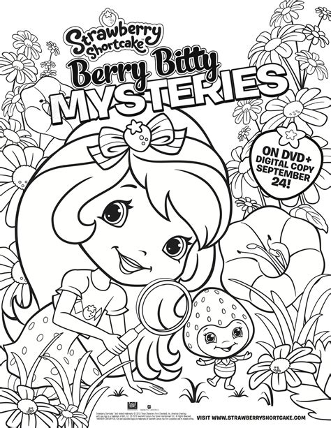 coloring book giveaway strawberry shortcake berry bitty mysteries coloring page
