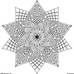 free geometric design coloring pages az coloring pages