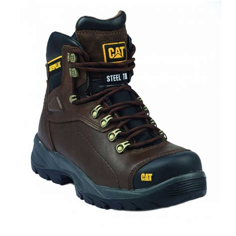 Sepatu Caterpillar Boots Polandia Safety Brown 5 caterpillar diagnostic brown work boots charnwood safety