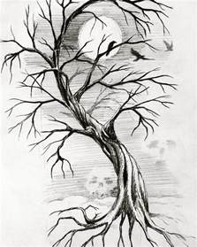 17 beautiful collection of tree drawings art ideas