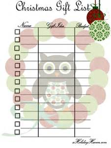Free Printable Christmas Gift List Template Christmas Shopping List Quotes Lol Rofl Com