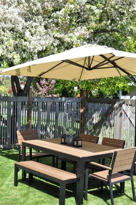 patio set umbrella ikea patio umbrella recommendation homesfeed