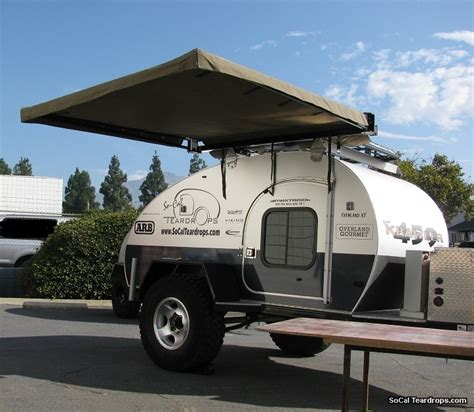 Awnings For Trailers by So Cal Teardrops Options Options Hannibal Awning