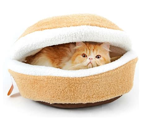 hamburger cat bed hoopet 174 hamburger burger design pet house shell shaped