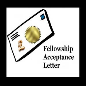 Acceptance Letter For Fellowship Fellowship Acceptance Letter Sle