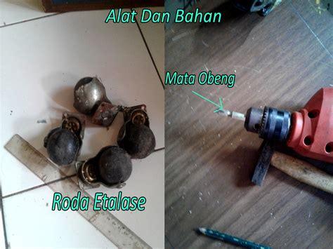 Mata Bor Gypsum pasang roda etalase pada box speaker sub woofer agar