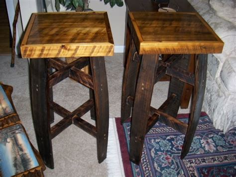 Primitive Bar Stools by Whiskey Barrel Bar Stools Rustic Decor Mountains