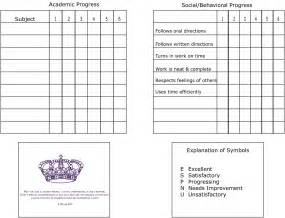 Free Printable Report Card Template homeschool report card template best templates