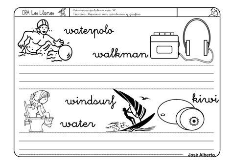 fichas letras con pictogramas letra fichas de lectoescritura con las letras w y x