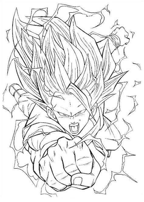 COLOREA TUS DIBUJOS: Goku fase 3 volando para colorear
